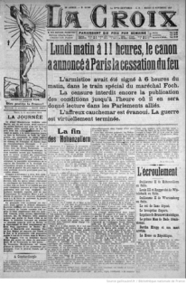 journaux-1918-11-12 La Croix, fin Ière GM copie.jpg