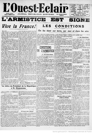 journaux-1918-11-12 Ouest-Eclair, armistice copie.jpg